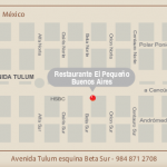 Location of restaurant Pequeno Buenos Aires Tulum