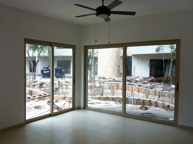 dining room with pool view zama village condo