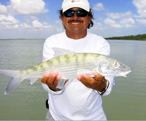 Bonefish, part of the grand slam you'll get at Sian Ka'an