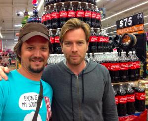 Actor Ewan McGregor at the local supermarket in Tulum